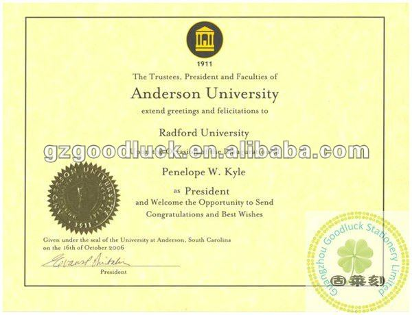 College And University Diploma Paper/custom Embosser Seal - Buy - Graduation Certificate Paper