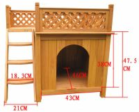 Functional Double-decker Dog Bed With Veranda And Stair ...