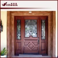 Guangzhou Wood Iron Doors Front Main Door Design - Buy ...