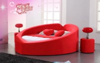 Best selling king size leather round bed on sale, View