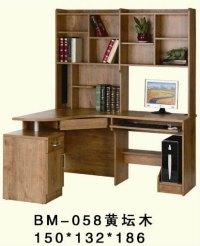 Large Corner Wooden Studyroom Computer Desk With Bookshelf ...
