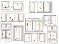 Cheap Double Glass Designs Casement Window In The ...