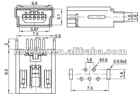 Micro Usb B 5 Pin Connector - Buy Micro Usb B 5 Pin Connector,5 Pin