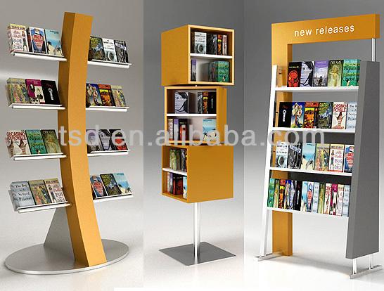 Tsd W555 Custom High Quality Shop Display Book Racks