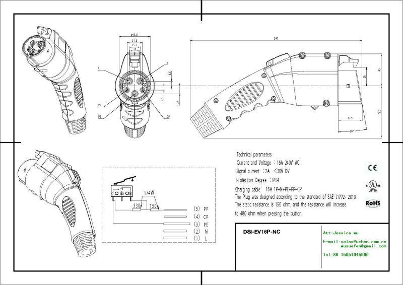 sae j1772 schematic