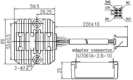 motorcycle voltage regulator wiring diagram
