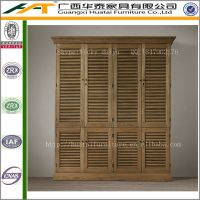 Oak Wardrobe Solid Wood Cabinet Retro Narrow Armoire ...