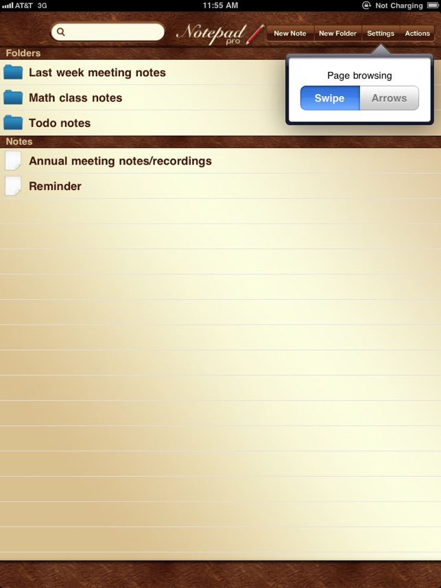 NotePad Pro for iPad on the App Store - meeting note pad