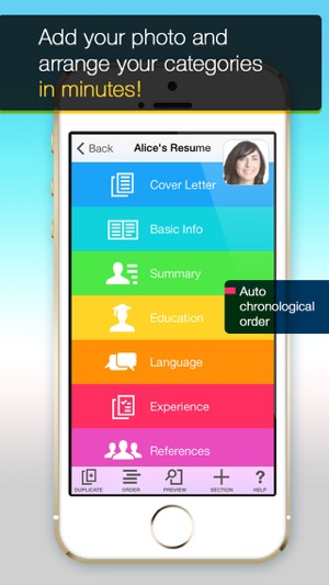 Resume Mobile Pro - design  share professional PDF resume on the go - mobile resume