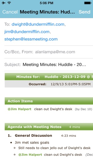 Less Meeting - Meeting Minutes, To-dos, Scheduling  more on the App