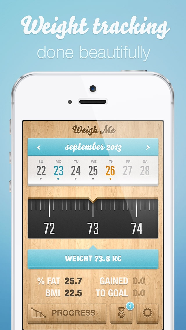 Weigh Me \u2014 Beautiful Weight Tracking App Price Drops