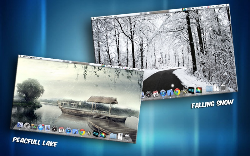 Christmas Falling Snow Wallpaper Note 3 T 233 L 233 Charger Animated Wallpapers Pour Macos Sur L App