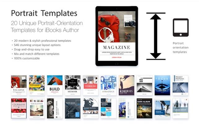 Portrait Templates iBooks Author Edition on the Mac App Store
