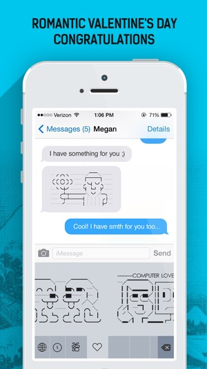 ASCY - Free Keyboard for sending Ascii Art on the App Store - cool text message art