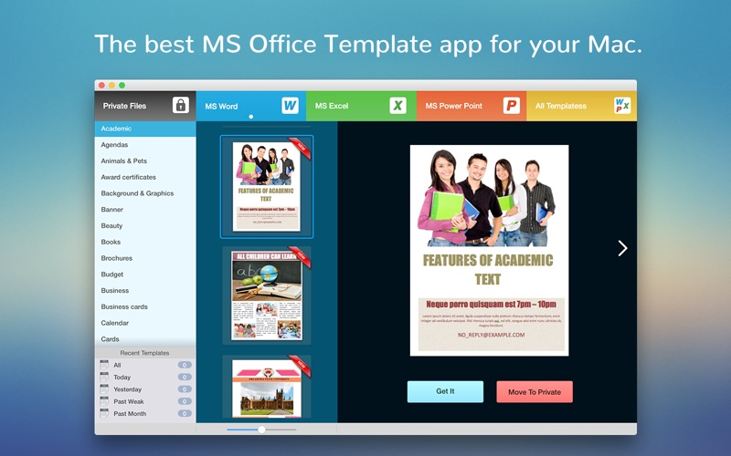 BookCase - Templates for MS Office App Price Drops