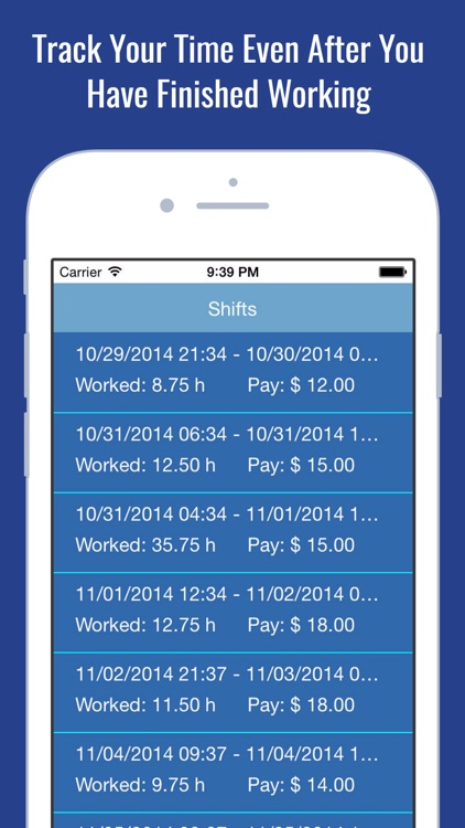 Working Hours Clock  Billable Paycheck Tracker by Catrnja Dev