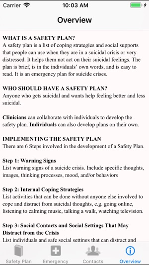 Stanley-Brown Safety Plan on the App Store