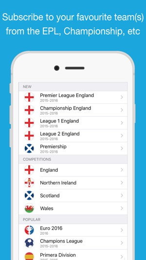 Fixtures for iPhone Calendar on the App Store
