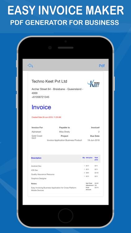Easy Invoice Maker by Techno Keet Pvt Ltd