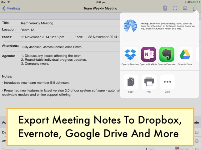 Meeting Notepad on the App Store