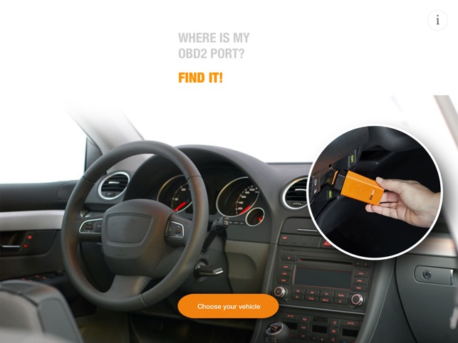 Where is my OBD2 port? Find it on the App Store