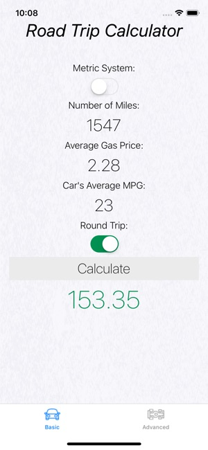 Road Trip Gas Cost on the App Store