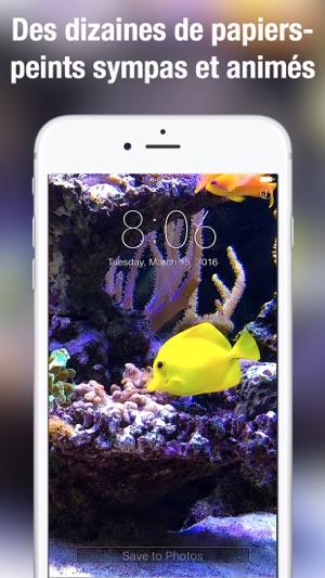 Apple Clownfish Wallpaper Iphone X Aquarium Fonds D 233 Cran Anim 233 S Dans L App Store