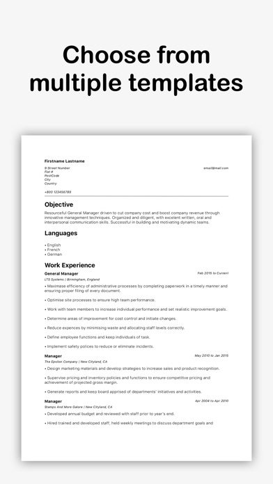 Super Resume Builder - by Alexandr Peancovschi - Productivity