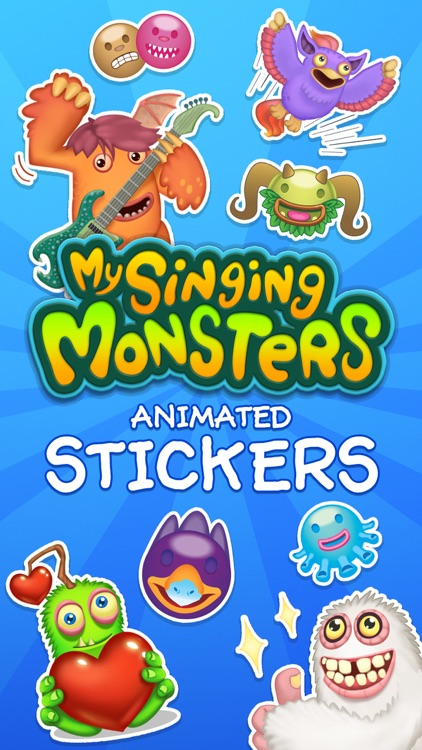 My Singing Monsters Stickers by Big Blue Bubble