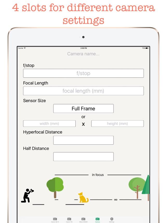 Hyperfocal Distance Calculator on the App Store