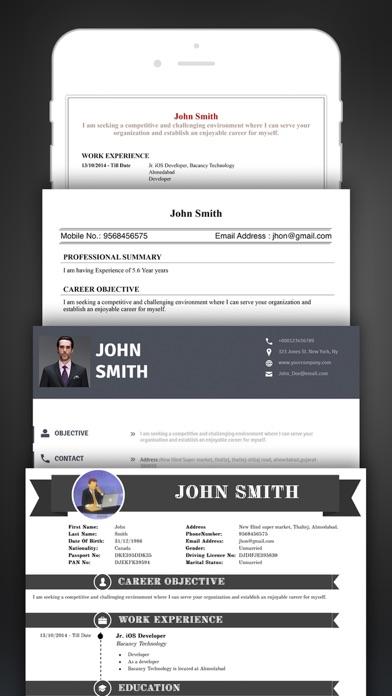 Resume Creator Pro CV Designer - App - Mobile Apps