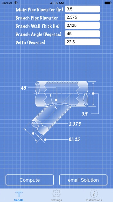 Pipe Saddle Layout Calculator - by Jean-Paul Lanaux - Productivity