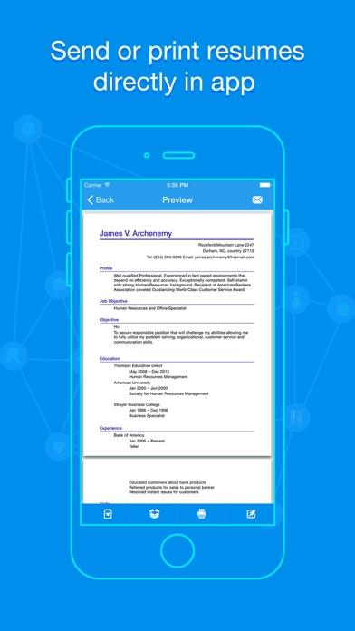 Quick Resume Pro - Resumes Builder and Designer - App - Mobile Apps