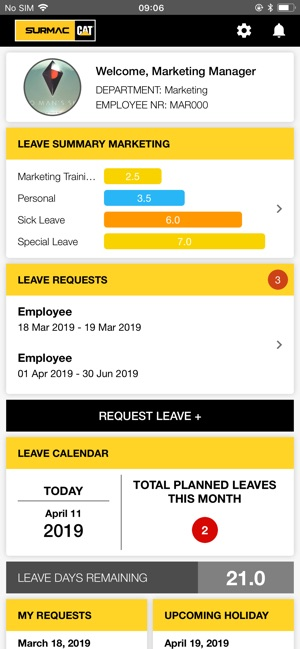 Surmac Leave Tracker on the App Store