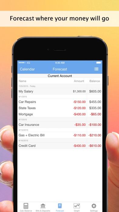 Balance Guide Lite - Money Tracker / Bills Manager - online App Chart