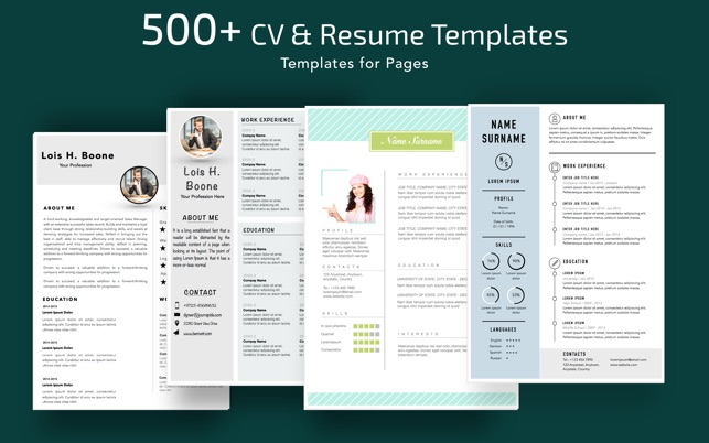 Resume, CV Templates for Pages on the Mac App Store