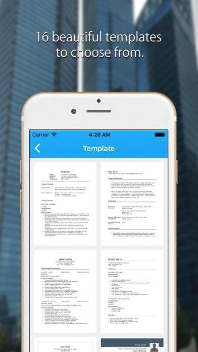 Resume Builder CV Template - App - Mobile Apps - TUFNCCOM