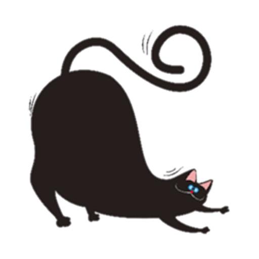 Chubby Black Cat Emoji Sticker by Hoang Trong