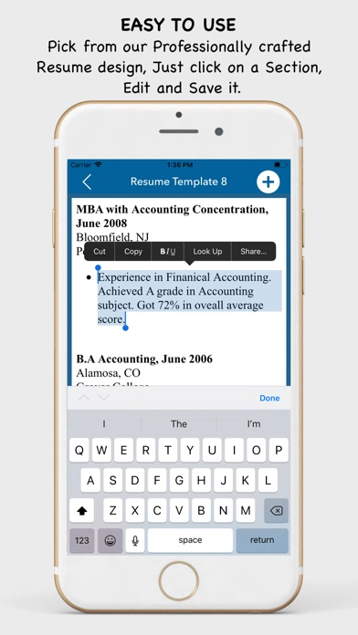 My Resume Builder - CV Maker by Gedela Bhawani (iOS, United States