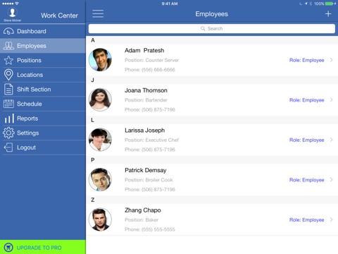 Work Center  Shift Scheduling  Staff Scheduling Manager App