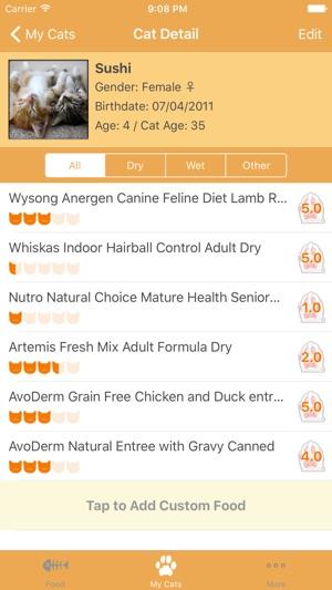 Cat Food Tracker with Cat Age Calculator en App Store