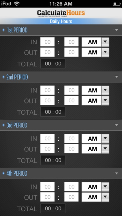Calculate Hours Worked - Timesheet Calculator by Review And Judge LLC