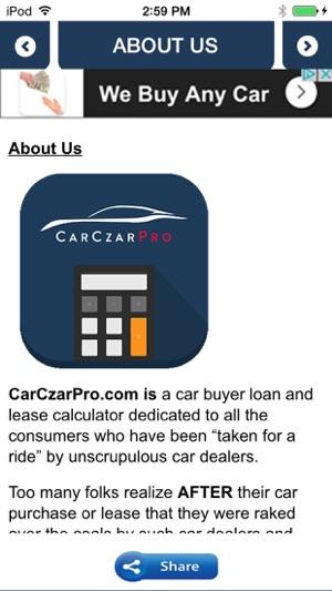 Car Czar Pro Car Loan  Lease Calculator on the App Store
