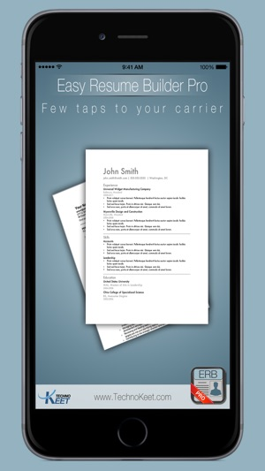 Easy Resume Pro CV Pocket Manager For Job Search on the App Store - step by step resume builder