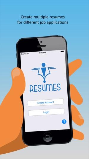 iResumes \u2013 Pro Resume Builder and Designer on the App Store