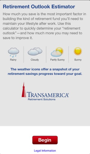 Retirement Outlook Estimator on the App Store - transamerica retirement solutions