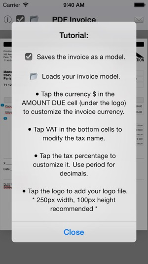 Simple Invoice Maker Create PDF from your iPhone on the App Store