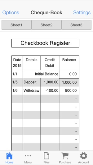 Check Book Register on the App Store
