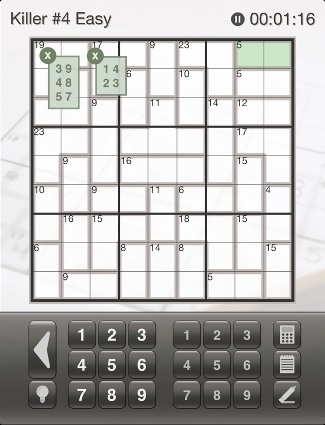 Sudoku Killer Killer Sudoku Puzzles for Your iPhone and iPad on the