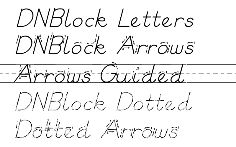 DN Block Letter Fonts App Price Drops